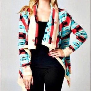 Moon Collection XL Aztec Cardigan sweater